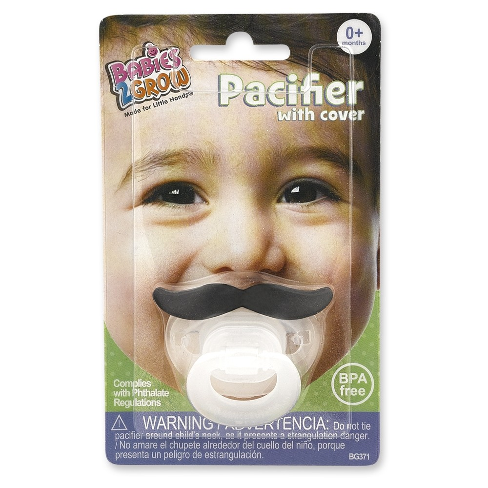 Mustache and Lipstick Pacifier