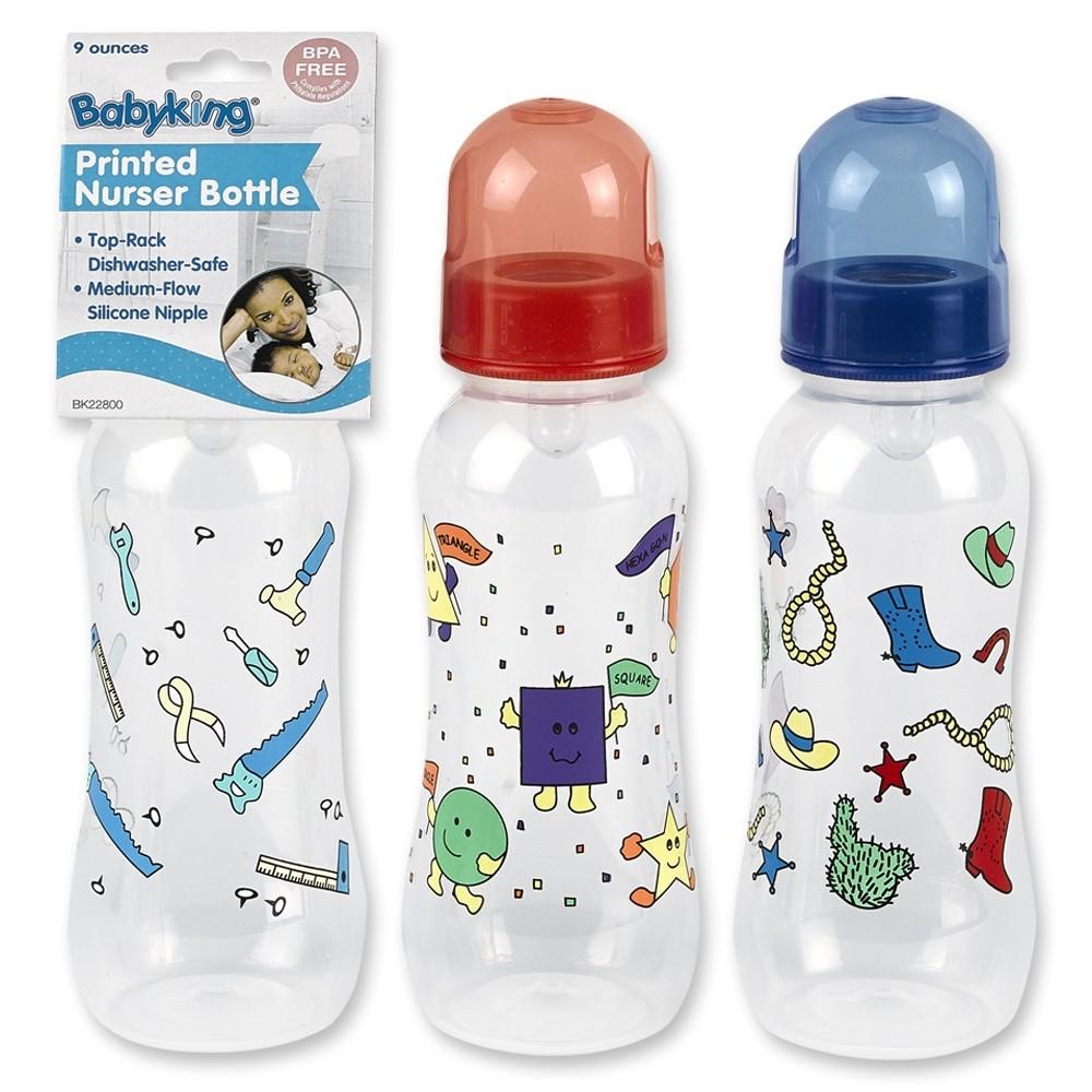 9 oz. E-Z Grip Printed Nurser Bottle BPA Free