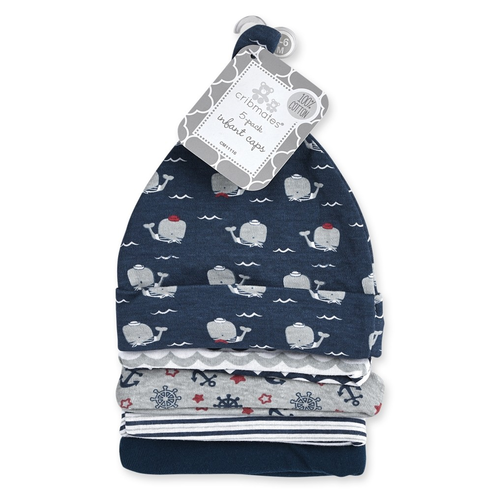 Whales 5-pack Infant Hats