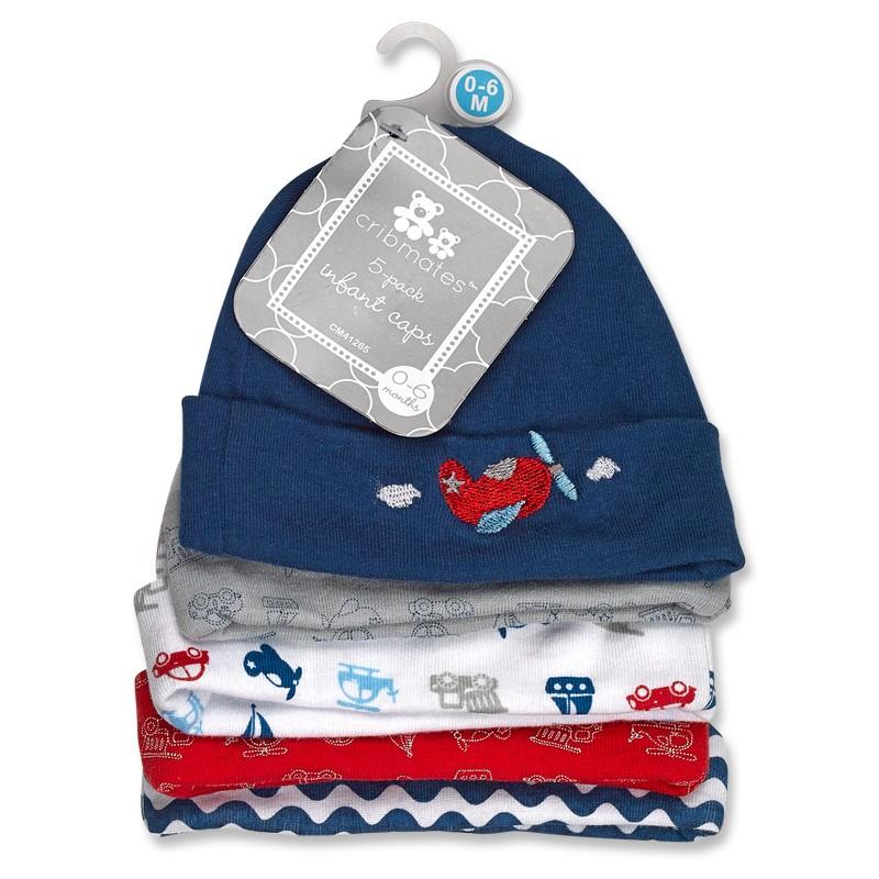 5 pack Infant Caps
