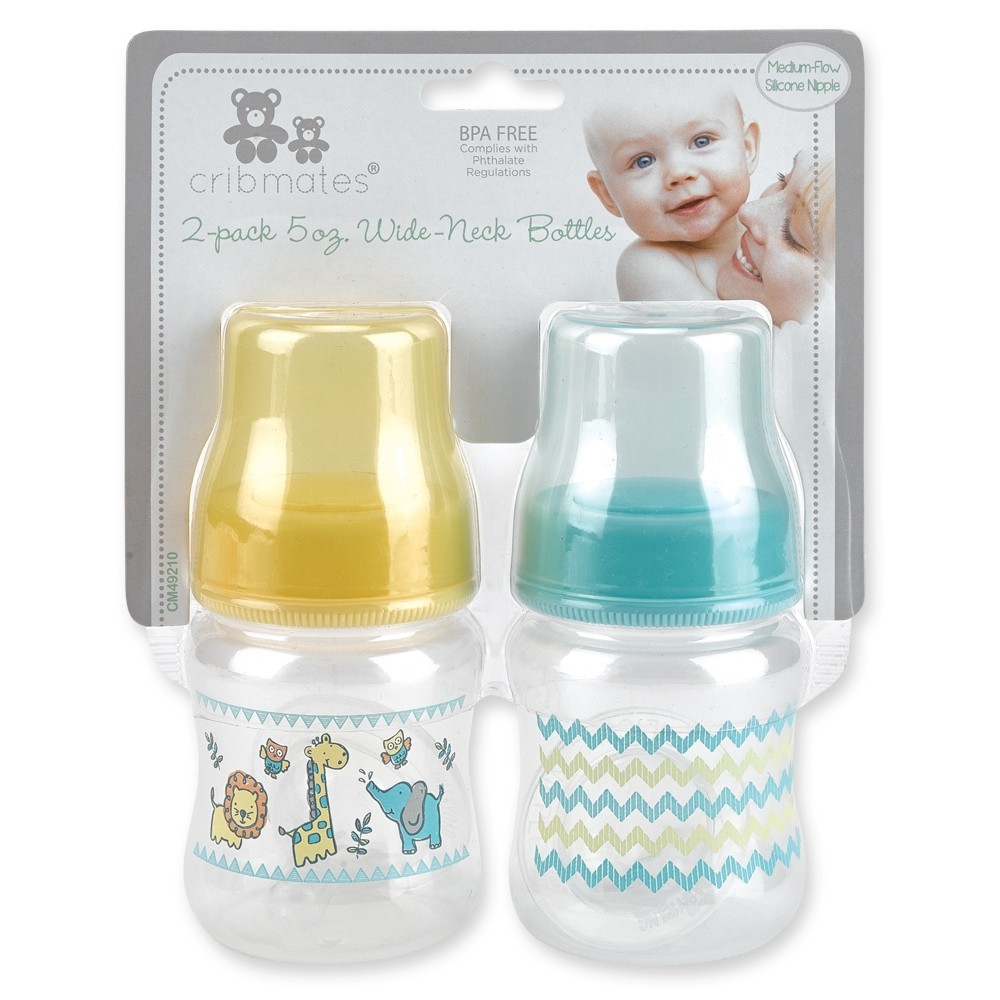 2-pack 5 oz. Wide-Neck Bottles