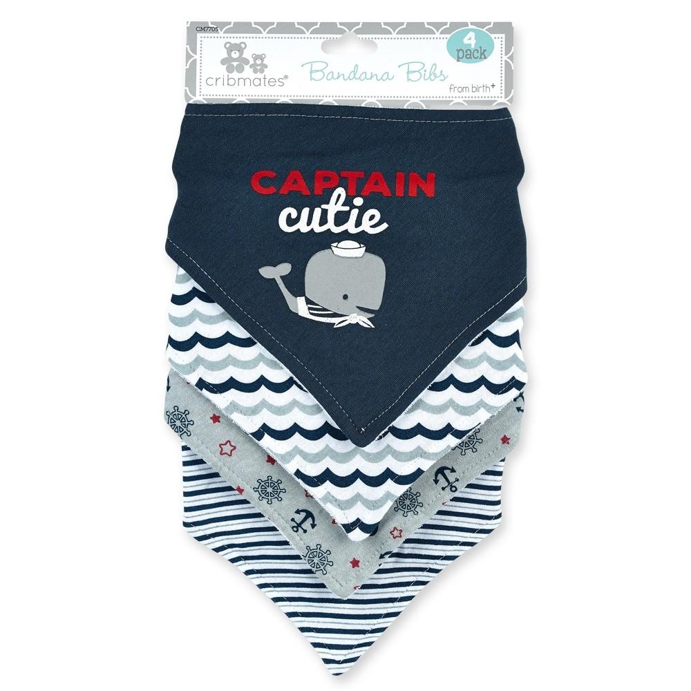 Captain Cutie Whale 4-pack Bandanna Bibs