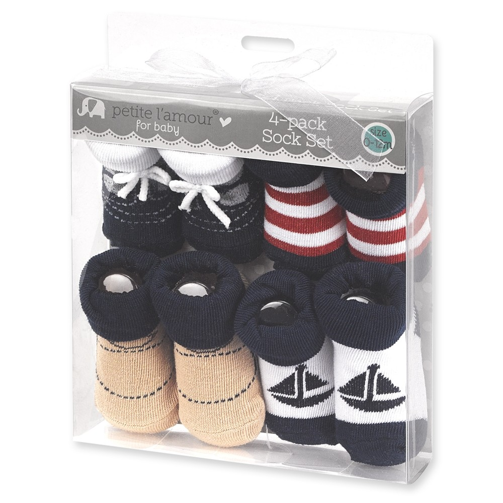 Baby Booties 4-Pack (0-12 months)