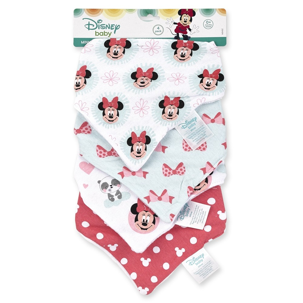4 Pack Minnie Bandanna Bib