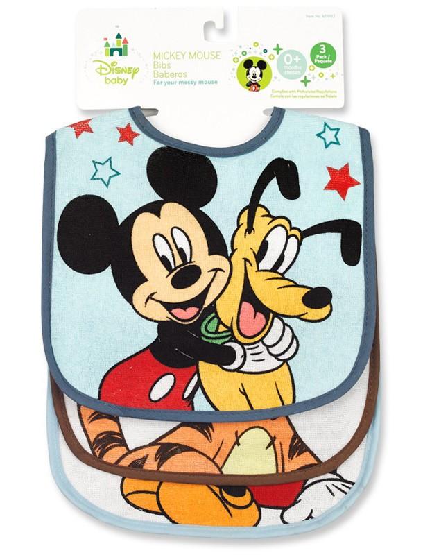Mickey/Minnie 3pk Bib Set