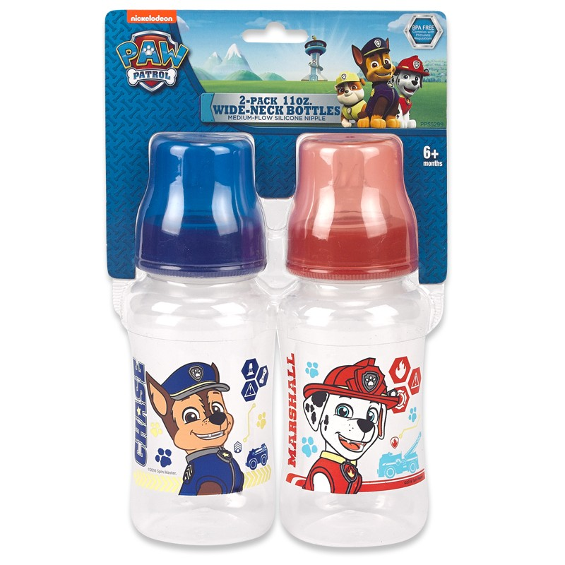 Paw Patrol 2-pack 11 oz. Wide-Neck Bottles