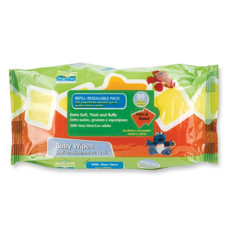 80pk Baby Wipes Sesame Street Licenses Wholesale Baby