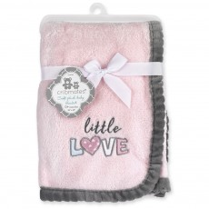 "Little Love 30"" x  40"" Soft Plush Baby Blanket"