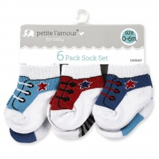 6 Pack Sock Set (Asst. Sizes)