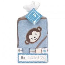 Hooded Towel w/ Washcloth Set
