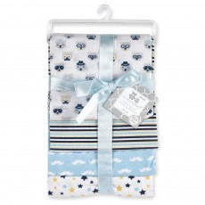4-Pack Flannel Receiving Blankets