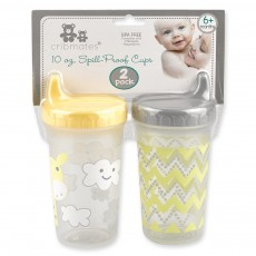 2 Pack 10oz. Spill-Proof Cups