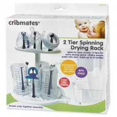 Cribmates 2 Tier Spinning Drying Rack