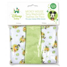 Mickey Mouse 3pk Washcloth
