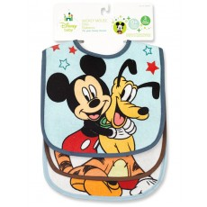 Mickey/Minnie 3pk Bib Set